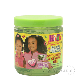 Kids Organics Soft Hold Olive OIl Conditioning Smoothing & Styling Gel 15oz