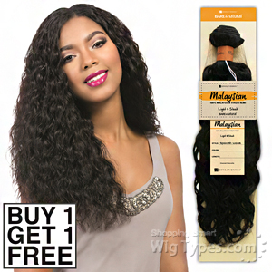Sensationnel 100% MALAYSIAN Virgin Remi Bundle Hair Bare & Natural - SPANISH WAVE 14 (Buy 1 Get 1 FREE)