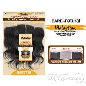 Sensationnel 100% Virgin Remi Bundle Hair Bare & Natural - SWISS FULL LACE 12 X 4 COVERALL BODY 12