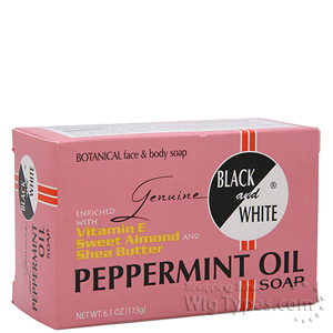 Black and White Peppermint Oil Soap 6.1oz