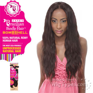 Janet Collection 100% Unprocessed Remy Human Hair Weave - BRAZILIAN BOMBSHELL NATURAL WEAVE 6PCS (14/14/16/16/18/18 + Closure)