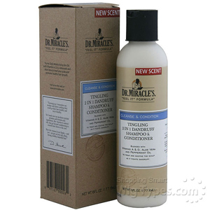 Dr.Miracle's Tingling 2 in 1 Dandruff Shampoo & Conditioner 6oz