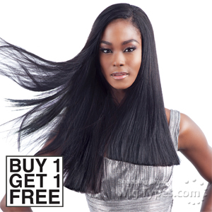 Model Model 100% Human Hair Weaving - YAKY AND YAKY 10,10,12,12 (Buy 1 Get 1 FREE)