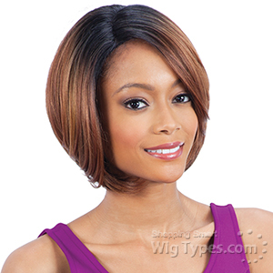Freetress Equal Synthetic Hair Lace Deep Invisible Diagonal Part Lace Front Wig - PURPLE BLOSSOM