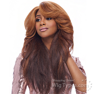 Harlem 125 Synthetic Hair Swiss Lace Deep Curved Part Wig - LSD03
