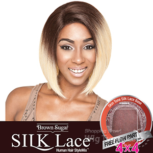Isis Brown Sugar Human Hair Blend Silk Lace Wig - BS601 (4X4 Full Lace Front)