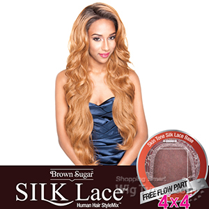 Isis Brown Sugar Human Hair Blend Silk Lace Wig - BS610 (4x4 Full Lace Front)
