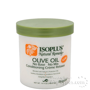 Isoplus Natural Remedy Olive Oil Conditioning Creme Relaxer - Regular 14.4 oz