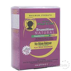 Jamaican Mango & Lime Transition Natural No More Relaxer Flat Iron Solution - Kit