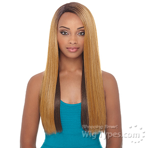 Janet Collection Natural Super Flow Deep Part Lace Wig - BISA