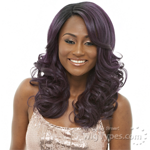 Janet Collection Natural Super Flow Deep Part Lace Wig - CHILLE