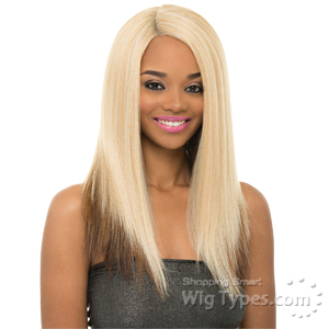 Janet Collection Natural Super Flow Deep Part Lace Wig - MAY