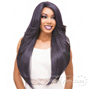 Janet Collection Natural Super Flow Deep Part Lace Wig - NOEL