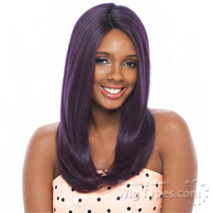 Janet Collection Natural Super Flow Deep Part Lace Wig - OLGA