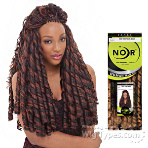 Janet Collection Noir Synthetic Braid - DROP CURL BRAID