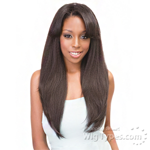 Janet Collection Synthetic Hair Retro Glam-Vibe Clip In U-Type Wig - 1B STRAIGHT 22