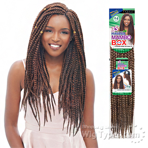 Janet Collection Synthetic Braid - Havana 3s Medium Mambo Box Braid 24