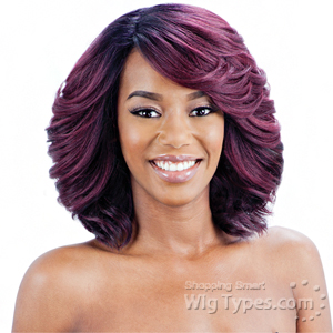 Model Model Synthetic Hair Lace Deep Invisible Diagonal Part Lace Front Wig - DEMI