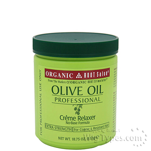 Organic Root Stimulator Olive Oil Creme Relaxer Extra Strength 18.75 oz