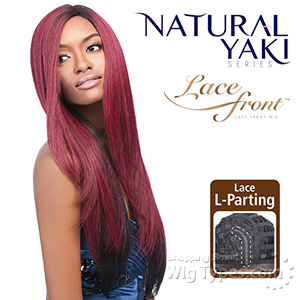 Outre Synthetic L-Part Lace Front Wig - Natural YAKI 24 (futura)