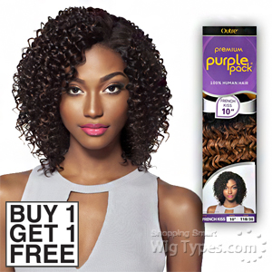 Outre 100% Human Hair Weave - PURPLE PACK FRENCH KISS (Buy 1 Get 1 FREE)