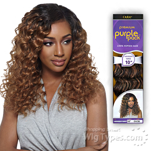 Outre 100% Human Hair Weave - PURPLE PACK HAWAIIAN WAVE 10