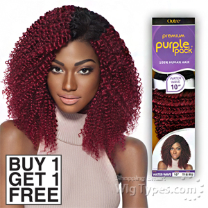 Outre 100% Human Hair Weave - PURPLE PACK WATER WAVE 14 (Buy 1 Get 1 FREE)