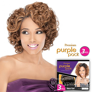 Outre Purple Pack Human Hair Blend Weaving - ROMANCE CURL 3 PCS
