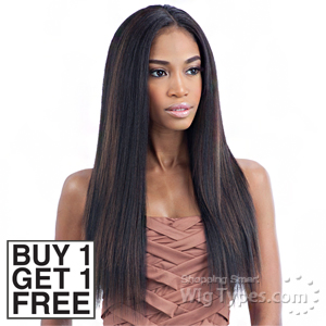Milky Way Que Human Hair Blend Weave - MALAYSIAN IRONED TEXTURE STRAIGHT 7PCS 14,16,18 (Buy 1 Get 1 FREE)
