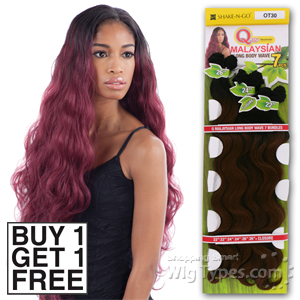 Milky Way Que Human Hair Blend Weave - MALAYSIAN LONG BODY 7 (Buy 1 Get 1 FREE)