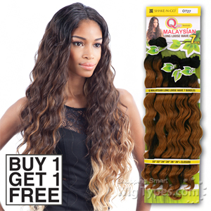Milky Way Que Human Hair Blend Weave - MALAYSIAN LONG LOOSE WAVE 7 (Buy 1 Get 1 FREE)