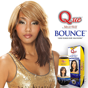 Milky Way Que Human Hair Blend Weave - BOUNCE 10