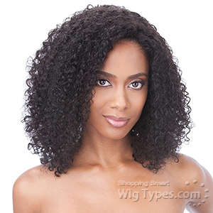 Milky Way Saga 100% Indian Remy Human Hair Lace Front Wig - INDIAN HAIR JERRY CURL