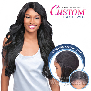 Sensationnel Stocking Cap Quality Custom Lace Wig - LOOSE BODY (Hand-Tied Part w/ Multiple Parting Option)