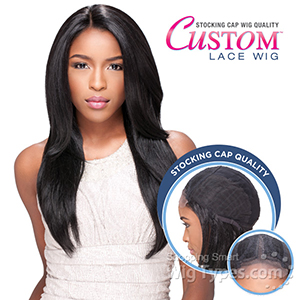 Sensationnel Stocking Cap Quality Custom Lace Wig - STRAIGHT (Hand-Tied Part w/ Multiple Parting Option)