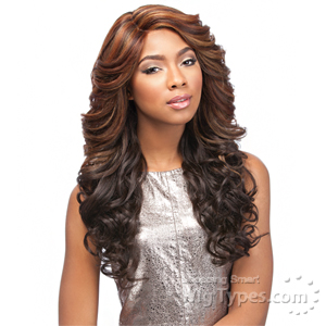 Sensationnel Synthetic Hair Empress Natural Curved Part Lace Front Wig - JASI (futura)