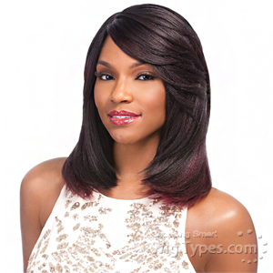 Sensationnel Synthetic Hair Empress Natural Curved Part Lace Front Wig - LAYLA (futura)