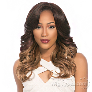 Sensationnel Synthetic Hair Empress Natural Curved Part Lace Front Wig - MEGAN (futura)