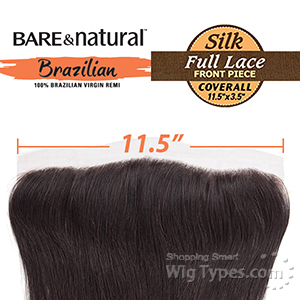 Sensationnel 100% Virgin Remi Bundle Hair Bare & Natural Lace Closure - SILK FULL LACE COVERALL FRONT 13.5 X 3.5 STRAIGHT 12