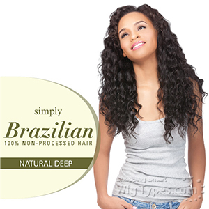 Outre Simply 100% Non-processed Brazilian Virgin Remy Human Hair Weave - NATURAL DEEP