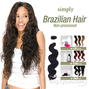Outre Simply 100% Non-processed Brazilian Virgin Remy Human Hair Weave - BODY WAVE 18