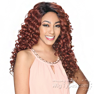 Zury Sis Synthetic Hair Invisible Top C Part Lace Wig - IV LACE H TORY