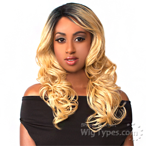 The Wig Brazilian Human Hair Blend Lace Front Wig - LH YURA