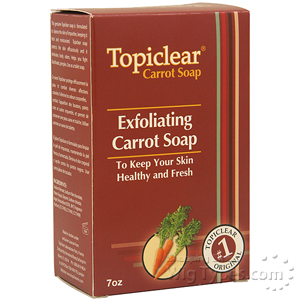Topiclear Exfoliating Carrot Soap 7oz