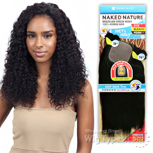 100% Unprocessed Brazilian Virgin Remy Hair - NAKED NATURE WET & WAVY DEEP WAVE 7PCS (14/14/16/16/18/18 + Silk Base Closure)